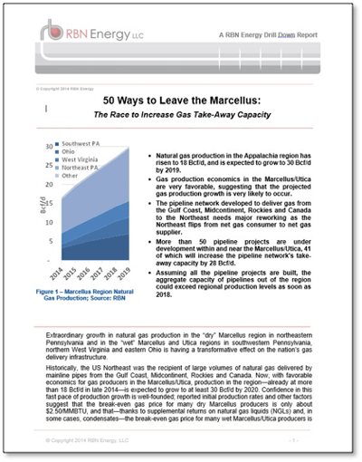 50 Ways to Leave the Marcellus: The Race to Increase Gas Take-Away Capacity