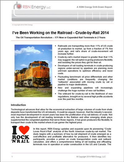 I've Been Working on the Railroad - Crude By Rail