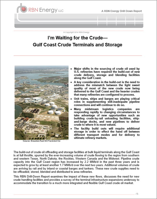I'm Waiting for the Crude - Gulf Coast Crude Terminals and Storage