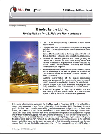 Blinded by the Lights: Finding Markets for U.S. Field and Plant Condensate
