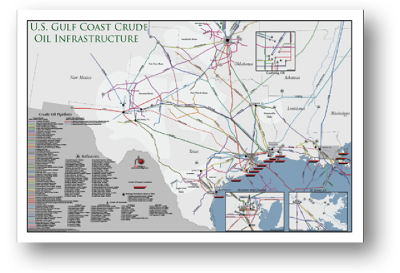 US Gulf Coast Crude Oil Infrastructure Map RBN Energy - Us gulf coast map