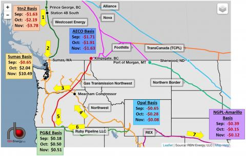 Chain Reaction Bc Pipeline Outage Disrupts Western Us Winter Gas - Gas-prices-us-map